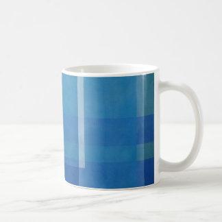 Blue Green Abstract Painting Geometric windows 01 Coffee Mug