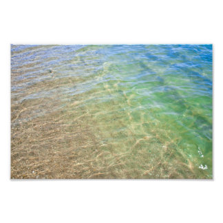 Blue Green Abstract Water Photograph