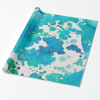 blue green abstract wrapping paper