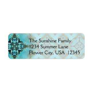 Blue & Green Address Label