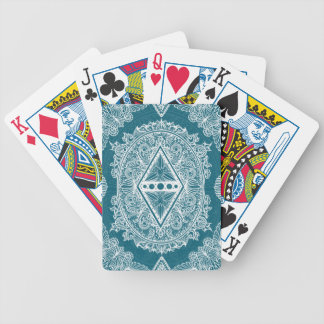 Blue Green Age of awakening, bohemian, newage Bicycle Playing Cards