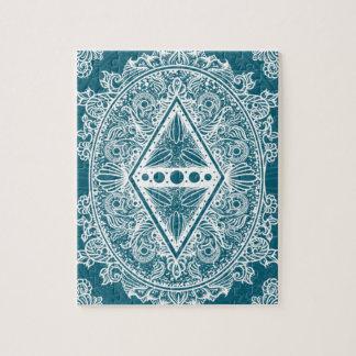 Blue Green Age of awakening, bohemian, newage Jigsaw Puzzle