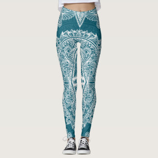 Blue Green Age of awakening, bohemian, newage Leggings