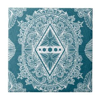 Blue Green Age of awakening, bohemian, newage Tile