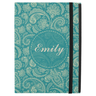 Blue-Green And Beige Vintage Paisley