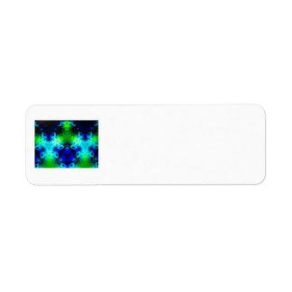 Blue Green and black kaleidoscope image