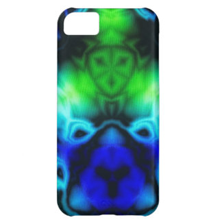 Blue Green and black kaleidoscope image Cover For iPhone 5C