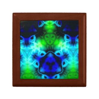 Blue Green and black kaleidoscope image Gift Box