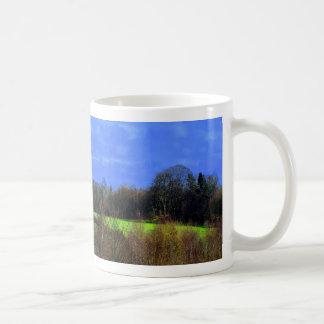 Blue Green and peace Mugs