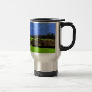 Blue Green and peace Coffee Mug
