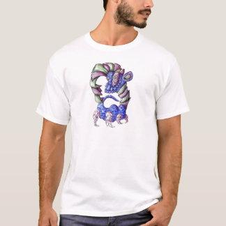 Blue Green and Purple Shell Dinosaur T-Shirt