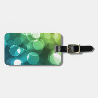 Blue Green And Yellow Bubbles Bag Tag