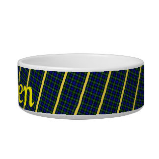 Blue, Green and Yellow Plaid Bowl