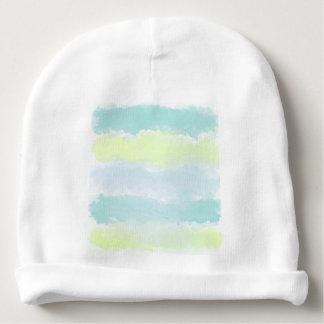 Blue Green Azur Watercolor Baby Beanie