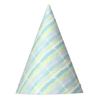 Blue Green Azur Watercolor Party Hat