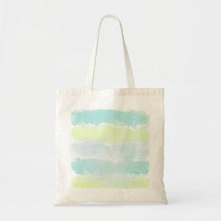 Blue Green Azur Watercolor Tote Bag