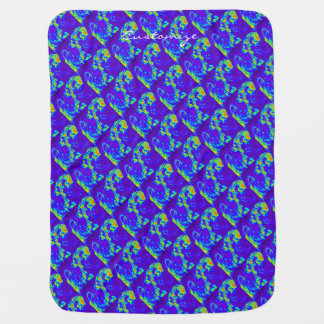 blue/green beach waves Thunder_Cove Swaddle Blankets