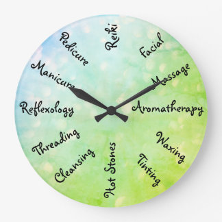 Blue / Green Beauty Therapy design Clocks