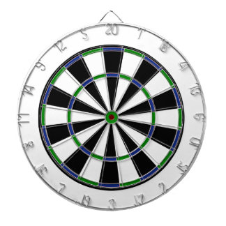 Blue Green Black Dartboard