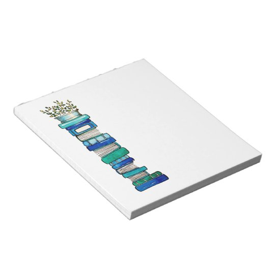 Blue & Green Book Stack Notepad