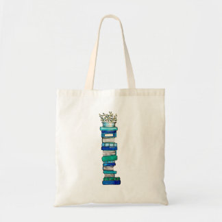 Blue & Green Book Stack Tote