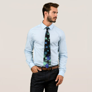 Blue & Green Bubbles Tie