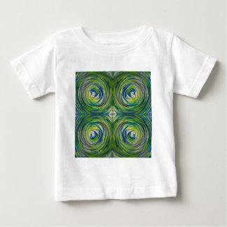 Blue Green Bulls Eye Baby T-Shirt