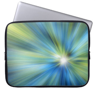 Blue-Green BURST Neoprene Laptop Sleeve