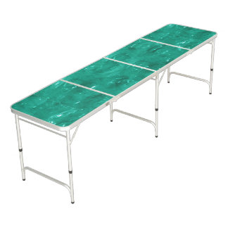 Blue Green Cellophane Beer Pong Table