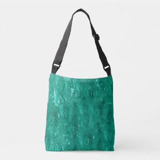 Blue green cellophane crossbody bag