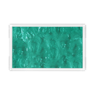 Blue Green Cellophane Serving Tray