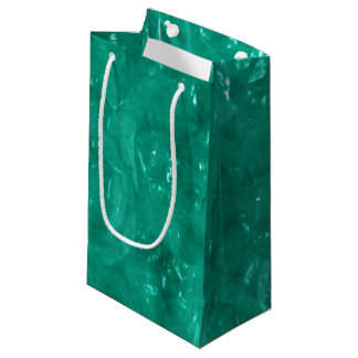 Blue Green Cellophane Small Gift Bag