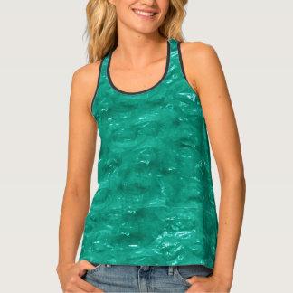 Blue Green Cellophane Tank Top