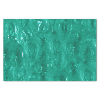 Blue green cellophane tissue paper