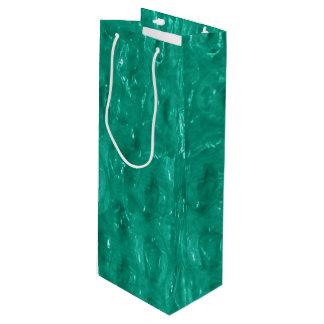 Blue Green Cellophane Wine Gift Bag