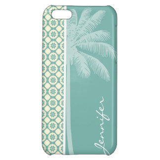 Blue-Green & Cream Floral iPhone 5C Covers