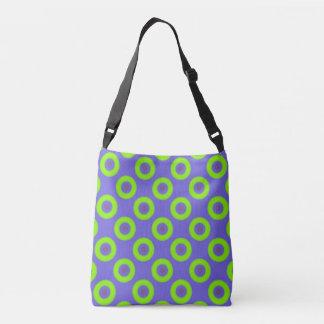 Blue, Green Cross Body All-Over  bag