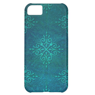 Blue Green Damask Pattern iPhone 5C Covers