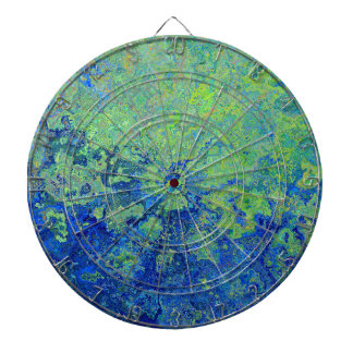 Blue Green Dartboard