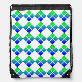 Blue Green Diamond backpack