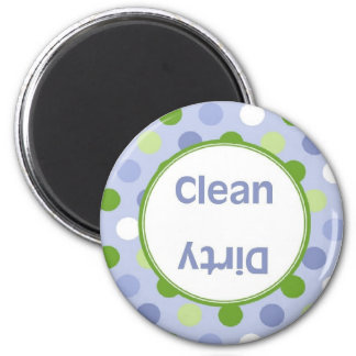 Blue Green Dot Clean/Dirty Dishwasher Magnet