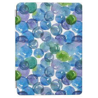 Blue Green Dots Watercolor Circles Art iPad Air Cover