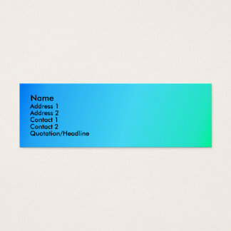 Blue Green Envy Mini Business Card