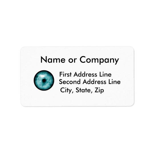 Blue Green eye cloud graphic aqua Label