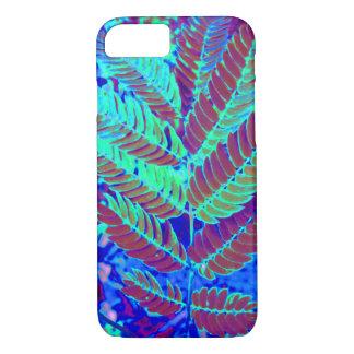 Blue Green Fern Leaf Plant Botanical Photography iPhone 8/7 Case
