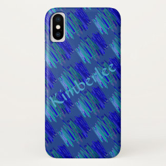 Blue Green Flannel iPhone X Case