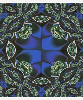 Blue Green Fractal Art T-shirt