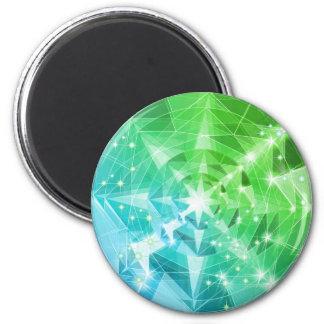 Blue Green Gemstone Compass Rhinestone Bling Look Magnet