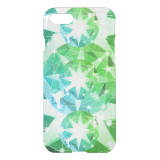 Blue Green Gemstone Compass Rhinestone Look iPhone 8/7 Case