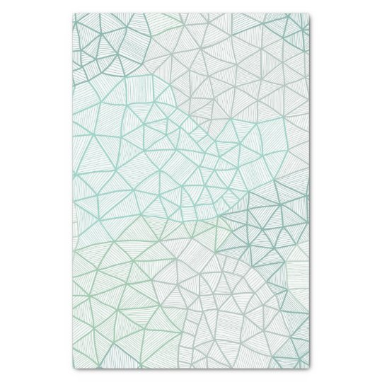 Blue Green Geometric Print Tissue Paper